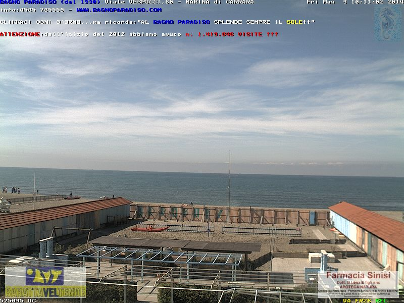 Webcam a Marina di Carrara