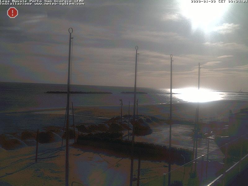 """Webcam Porto San Giorgio """"L.N.I. sez Porto San giorgio"""" Temporaneamente off Line."""