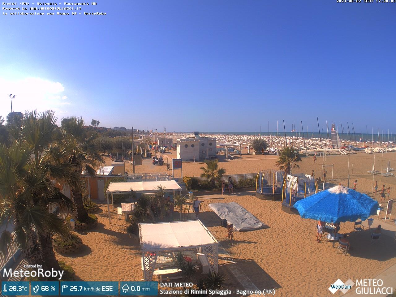 webcam Rimini - Bagno 99 Loretta MeteoRoby (RN)
