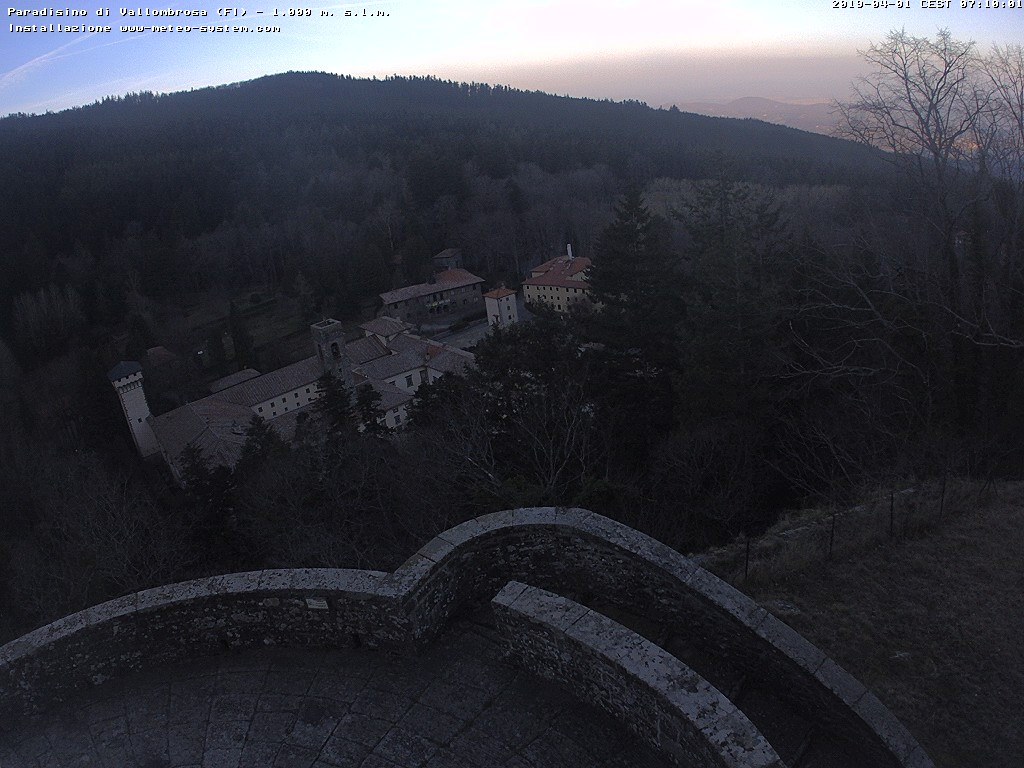 webcam  Vallombrosa (FI, 1000 m), webcam provincia di Firenze, webcam Toscana, Webcam Toscana